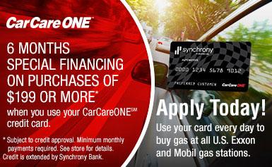 auto repair financing no interest same as cash