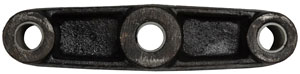"""Trailer Suspension Equalizer for 1-3/4"""" Wide Double-Eye Springs - 8"""" Long - 9/16"""" Center Hole - Straight"""