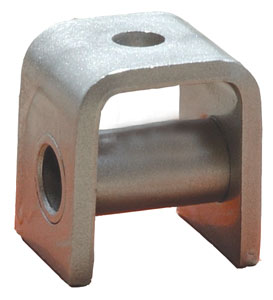 """Trailer Spring Hanger for 1-3/4"""" Wide Leaf Springs - 2"""" Tall - Rear Single With Sleeve"""