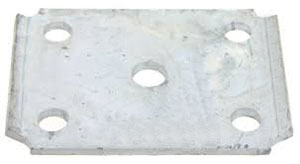 "U Bolt Tie Plate for 2"" Square Axle - 1-3/4"" Wide Spring - Galvanized Finish"