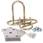 "Trailer U-Bolt Kit For 3"" Round Axle - 1-3/4"" to 2"" Spring - Zinc Finish"