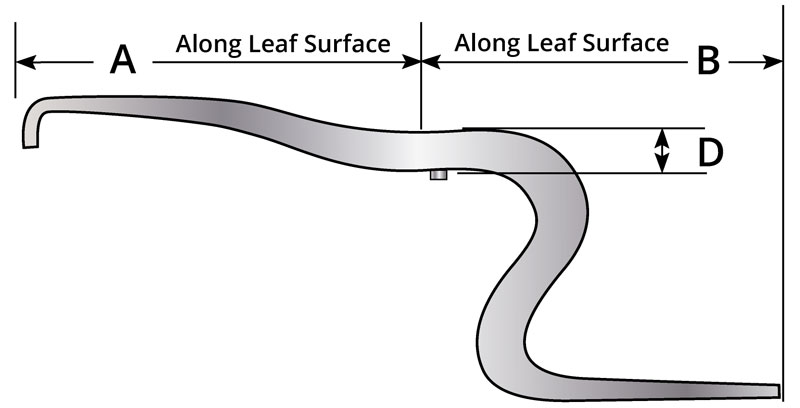 Hendrickson rear leaf spring part number 50-367. Replaces OEM Leaf part number 56871-001.