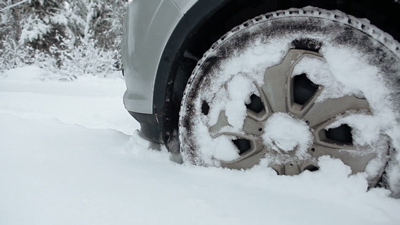 Brakes operating in snow