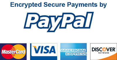 All major credit cards accepted including paypal.
