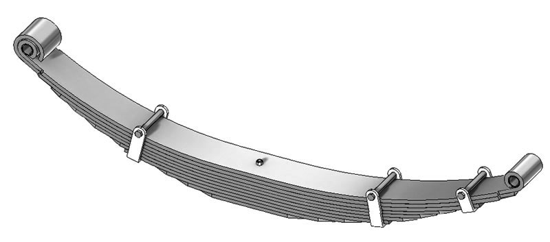 Leaf spring 43-434 fits Ford trucks. Replaces OEM leaf spring part number F2HZ5310M, F3HT5310HA.