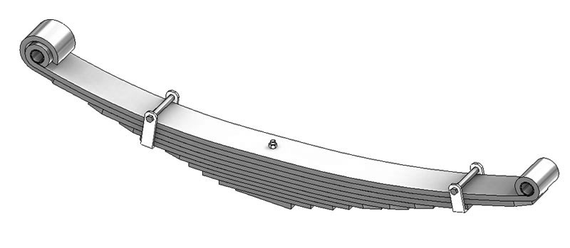 Leaf spring 43-686 fits Ford trucks. Replaces OEM leaf spring part numbers F6HZ5310AAA, F6HT5310AAA.