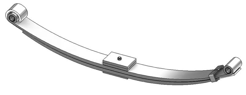 Leaf spring 46-1280 fits Freightliner trucks. Replaces OEM leaf spring part number A16-13412-000.