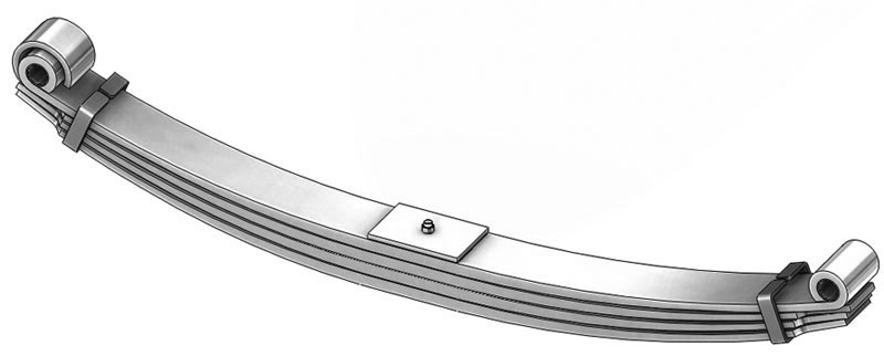 Leaf spring 46-1294 fits Freightliner trucks. Replaces OEM leaf spring part number A16-14012-000.