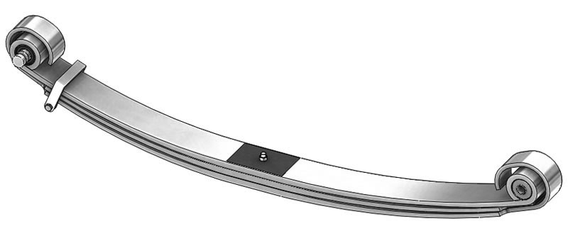Leaf spring 46-1768 fits Freightliner trucks. Replaces OEM leaf spring part number A16-17224-000.