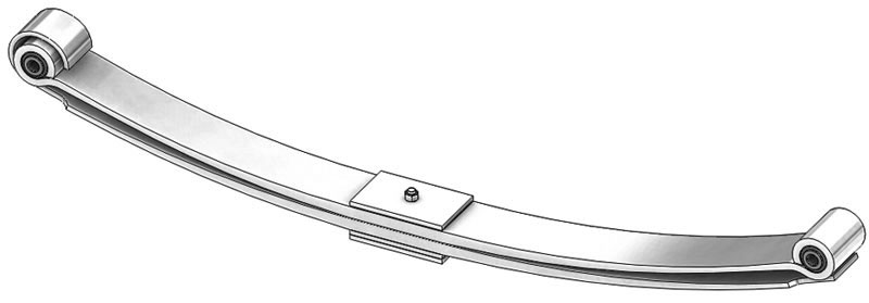 Leaf spring 55-1240 fits Navistar International trucks. Replaces OEM leaf spring part number 3533197C91.