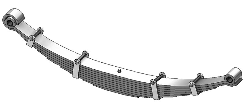 Leaf spring 55-856 fits Navistar International trucks. Replaces OEM leaf spring part number 471267C91.