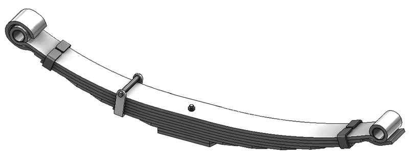 Leaf spring 55-908 fits Navistar International trucks. OEM leaf spring part number 572383C91.
