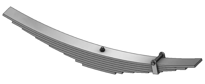 Helper leaf spring 56-121 fits Isuzu trucks. Replaces OEM leaf spring part numbers 1513404570 or 94051022.