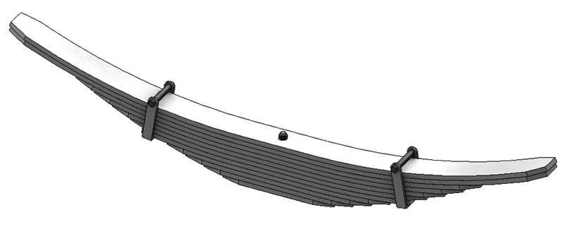 Leaf spring 83-285 fits Reyco Trucks. Replaces OEM leaf spring part number 16732-02.