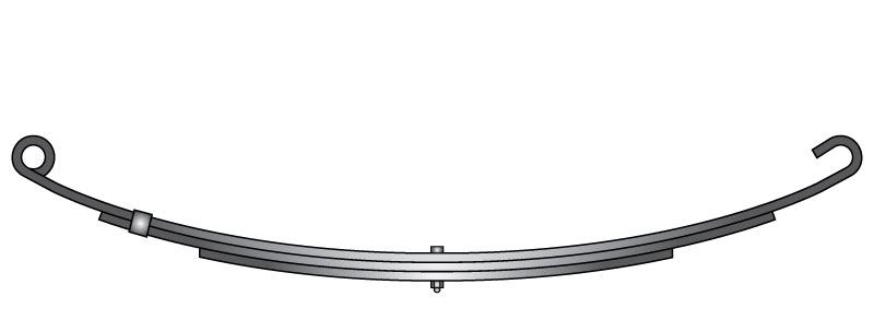 "Slipper trailer leaf spring C-3 is a open eye slipper spring that fits all trailer types with 26-1/4"" length"
