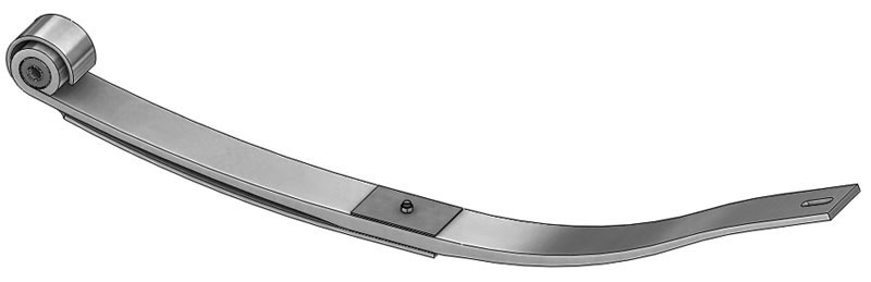 Leaf spring 46-1476 fits Freightliner trucks. Replaces OEM leaf spring part number A16-16790-000.