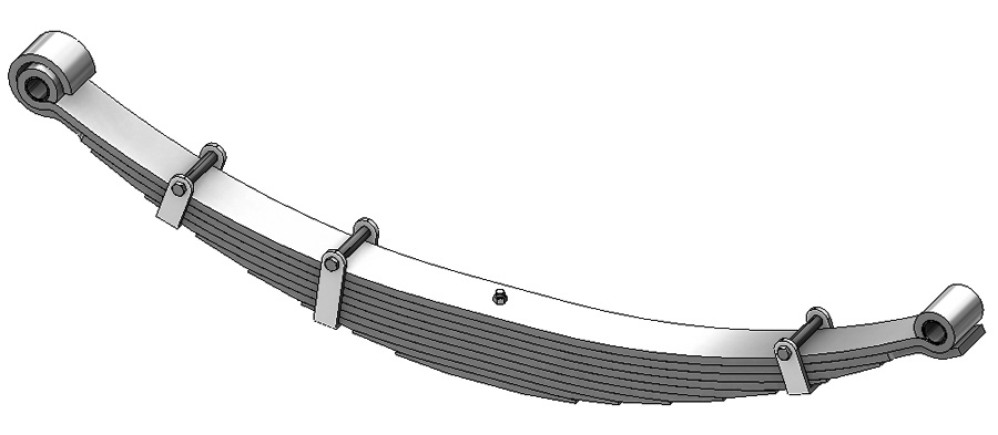 Leaf spring 14-108 fits Bluebird heavy trucks. Replaces OEM leaf spring part number 1215425.