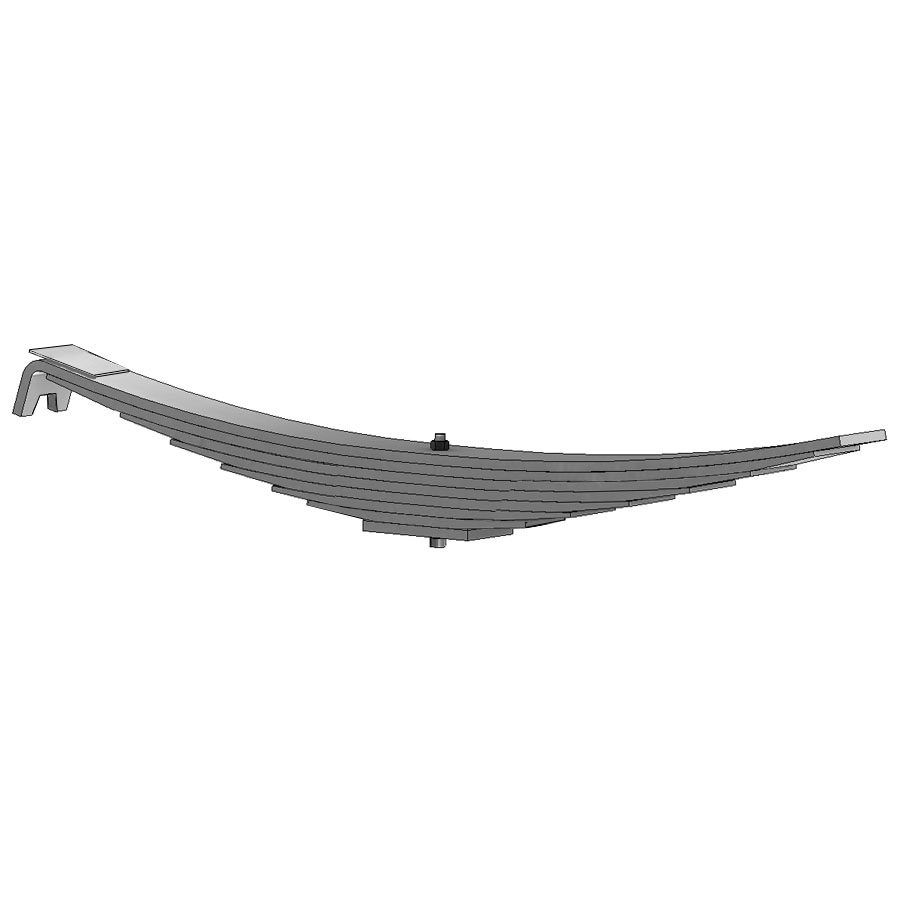 Leaf Spring 46-897 fits Freightliner trucks. Replaces OEM leaf spring part number A16-10437-000.