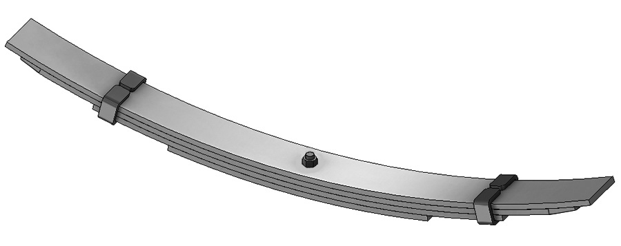 Leaf spring 55-037 fits Navistar International. Replaces OEM leaf spring part number 473725C91.