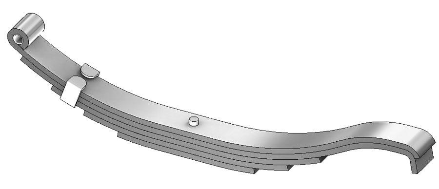 "Trailer leaf spring 1203T3 is a slipper spring that fits all trailer types with 26-5/8"" length"
