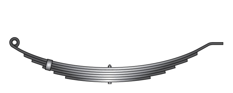 "Slipper trailer leaf spring 093182-14 is a slipper spring that fits all trailer types with 32-1/2"" length"