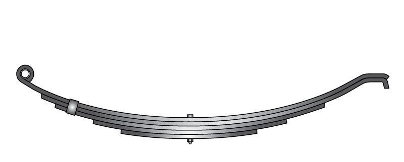 "Slipper trailer leaf spring 1203T3 is a hook end slipper spring that fits all trailer types with 26-5/8"" length"