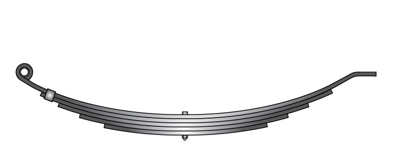 "Slipper trailer leaf spring 43101-56 is a slipper spring that fits all trailer types with 32-1/2"" length"