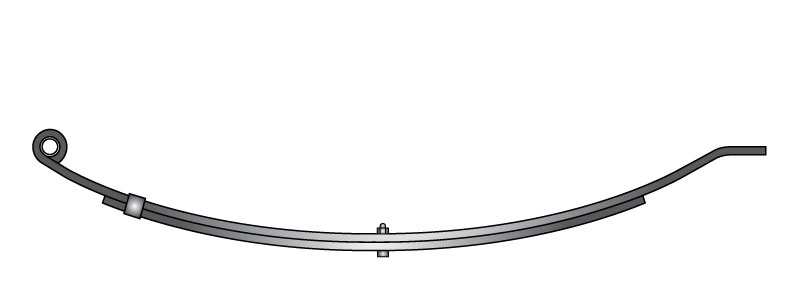 "Slipper trailer leaf spring 4321-10 is a slipper spring that fits all trailer types with 30"" length"