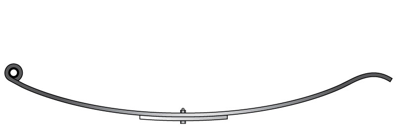 "Slipper trailer leaf spring 4321-3 is a slipper spring that fits all trailer types with 24-1/4"" length"