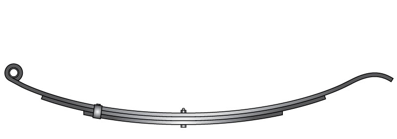 "Slipper trailer leaf spring 4331-15 is a slipper spring that fits all trailer types with 30"" length"