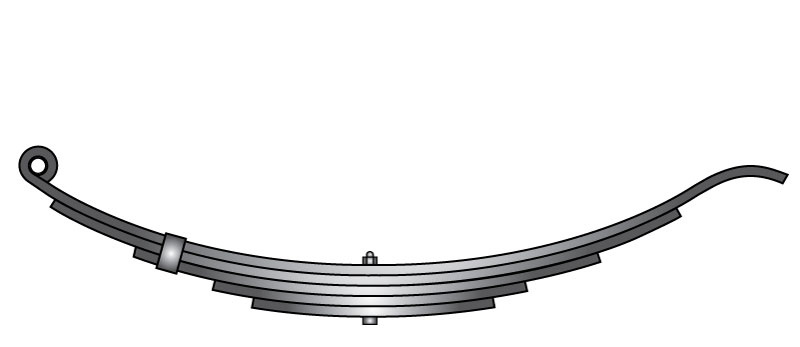 "Slipper trailer leaf spring 4351-23 is a slipper spring that fits all trailer types with 24-1/4"" length"