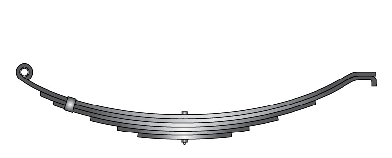 "Slipper trailer leaf spring 4361-40 is a slipper spring that fits all trailer types with 29-1/2"" length"