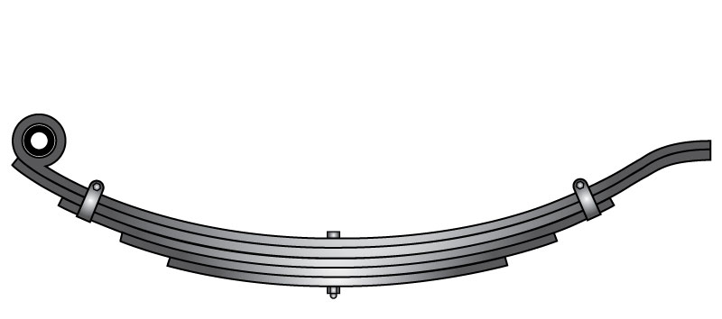 "Slipper trailer leaf spring 72-43 is a slipper spring that fits all trailer types with 30-1/2"" length"