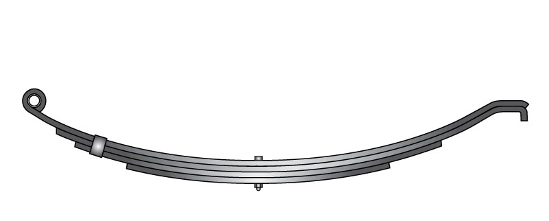 "Slipper trailer leaf spring 803t3 is a slipper spring that fits all trailer types with 25"" length"