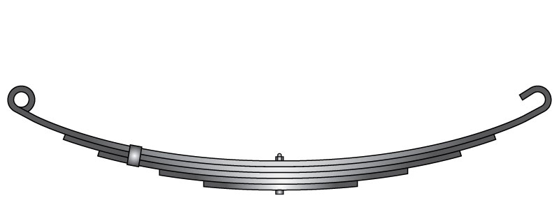 "Slipper trailer leaf spring C-5 is a slipper spring that fits all trailer types with 26-1/4"" length"