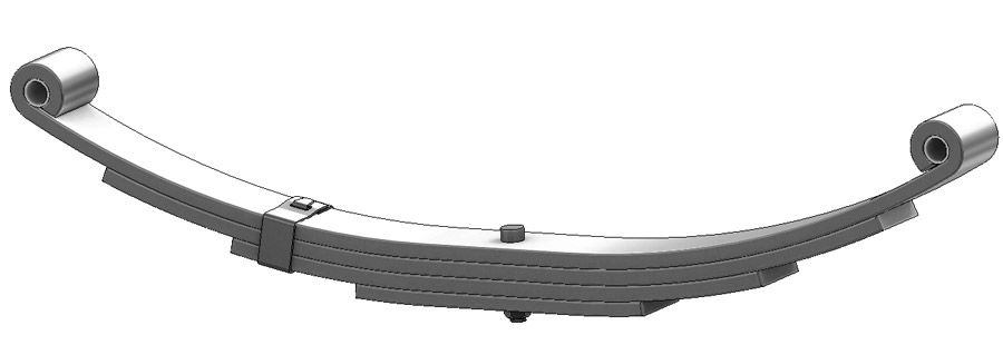 Trailer leaf spring 4342-16, AWS-4, UNA-051 and TS544-4 is a double eye spring for all trailer types