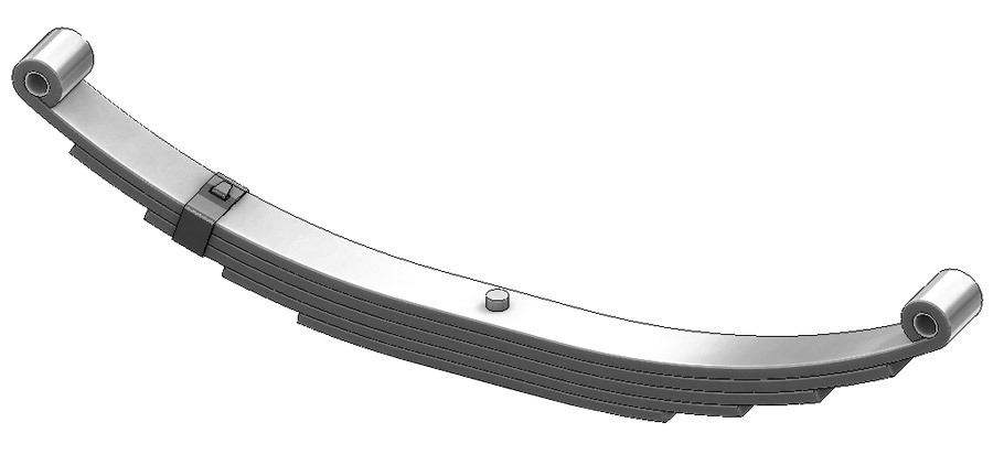 Trailer leaf spring 4352-29, SW-5 and UNA-111 is a double eye spring for all trailer types