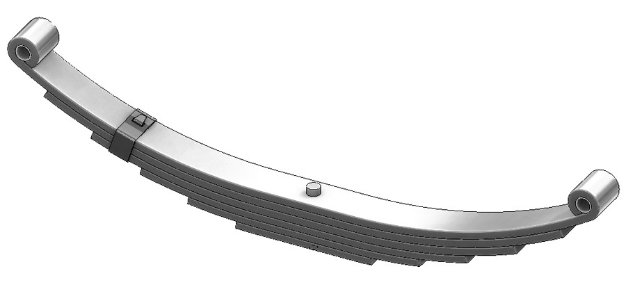 Trailer leaf spring 4362-33, SW-6 and UNA-223 is a double eye spring for all trailer types