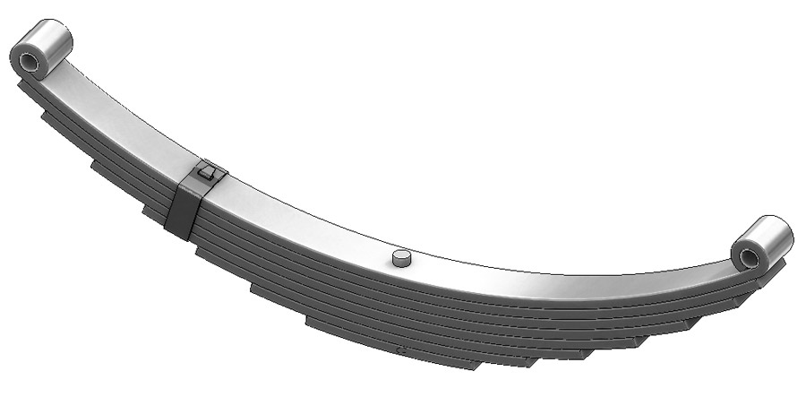 Trailer leaf spring 4382-30, AWS-8 and UNA-055 is a double eye spring for all trailer types