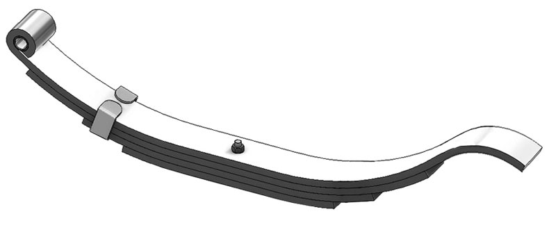 "Trailer leaf spring 4341-10 is a radius end slipper spring that fits all trailer types with 24-1/4"" length"