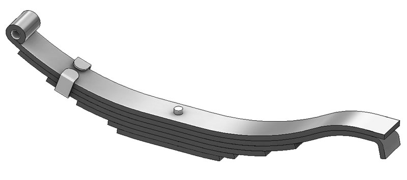 "Trailer leaf spring 4361-40 is a radius end slipper spring that fits all trailer types with 29-1/2"" length"