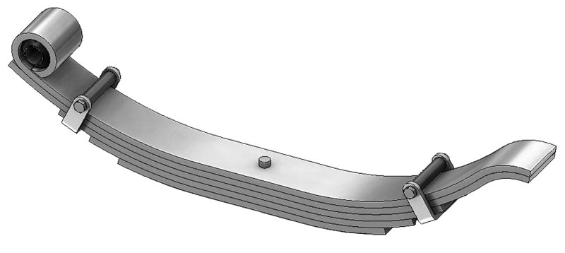 "Trailer leaf spring 72-43 is a radius end slipper spring that fits all trailer types with 30-1/2"" length"