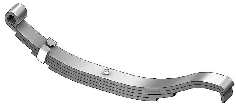 "Trailer leaf spring 803t3 is a hook end slipper spring that fits all trailer types with 25"" length"