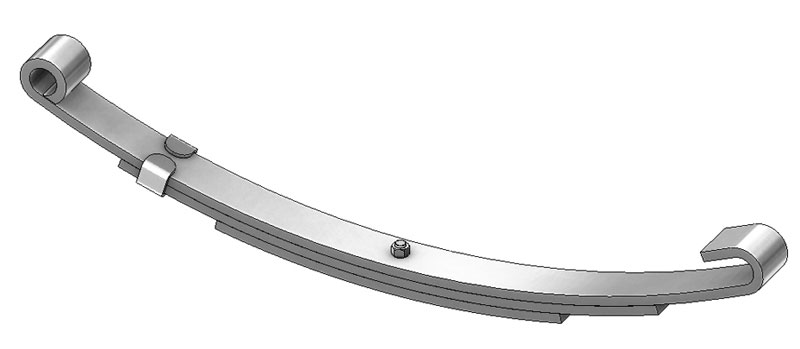 "Trailer leaf spring C-3 is a open eye slipper spring that fits all trailer types with 26-1/4"" length"