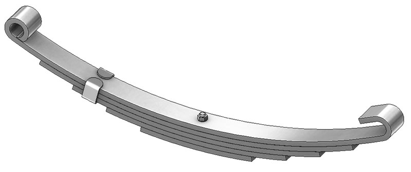 "Trailer leaf spring C-5 is a open eye slipper spring that fits all trailer types with 26-1/4"" length"