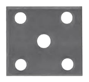 "U Bolt Tie Plate for 2"" Square Axle - 1-3/4"" to 2"" Wide Spring - Raw Finish"