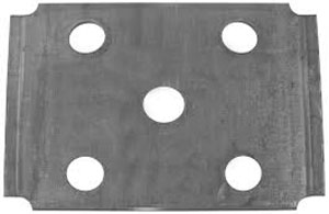 "U Bolt Tie Plate for 2-3/8"" Round Axle - 1-3/4"" Wide Spring - Raw Finish"