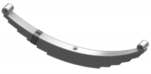 Trailer leaf spring 4372-26, UNA-054 and AWS-7 is a double eye spring for all trailer types